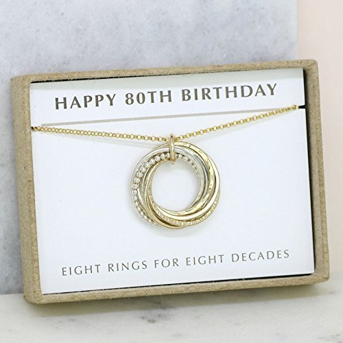 Amazon 80th Birthday Gift Necklace Personalised For Grandma Mom