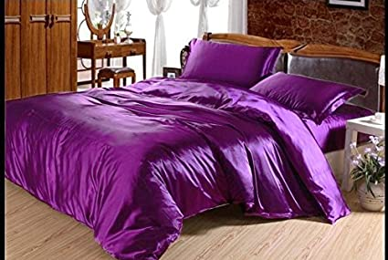 246443075e50 Amazon.com  Reliable Bedding Luxurious Ultra Soft Silky Satin 7 ...