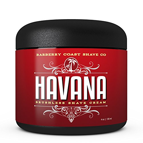 (Havana Shaving Cream for Men - Scent: Tobacco, Vanilla, Coco Bean - Made with Shea Butter, White Tea & All Natural Ingredients)