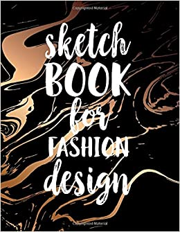 sketch book for fashion design blank doodle draw sketch book