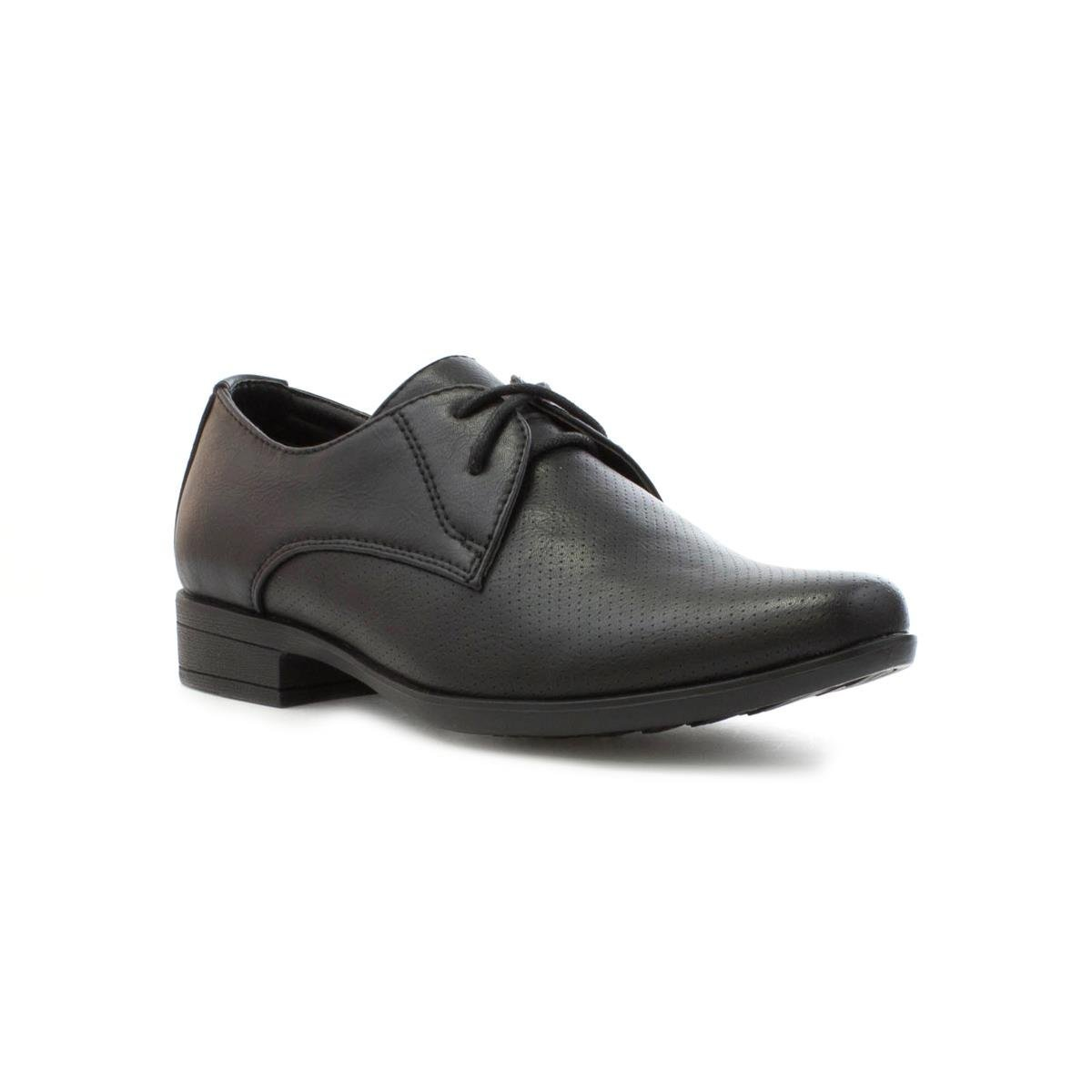 BECKETT CORP. Beckett Boys Formal Lace up Shoe in Black