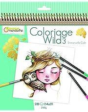 Avenue Mandarine – Cuaderno para Colorear Wild 3, gy077 C, Sujetadores