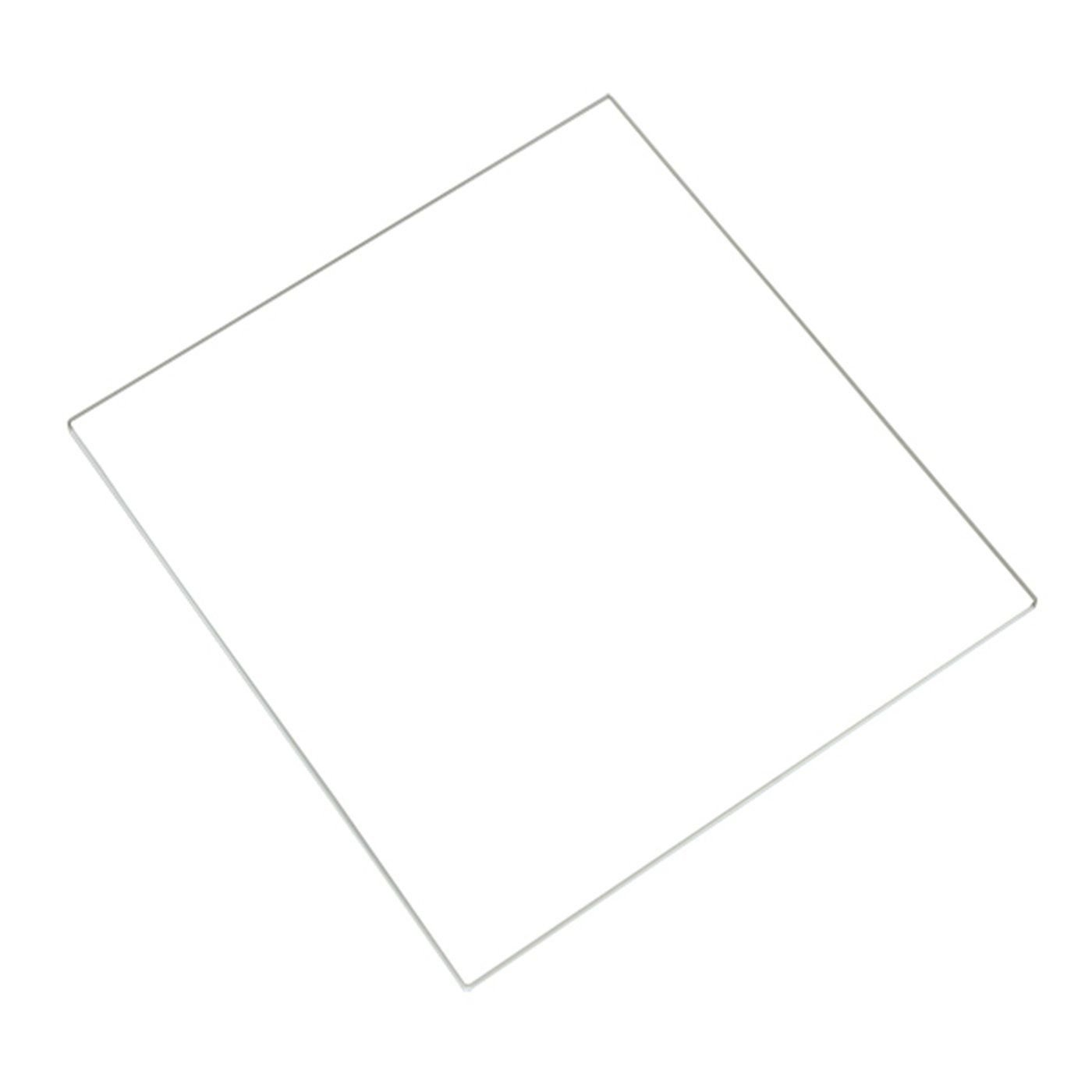 120x120x3mm Square 120mm x 120mm x 3mm Borosilicate Glass Plate//Bed for Monoprice Select Mini 3D Printer