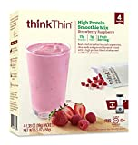 Cheap thinkThin High Protein Smoothie Mix, Strawberry Raspberry, 1.38 oz Packet (4 Count)