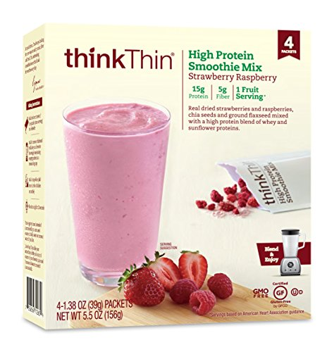 thinkThin Protein Smoothie Strawberry Raspberry product image