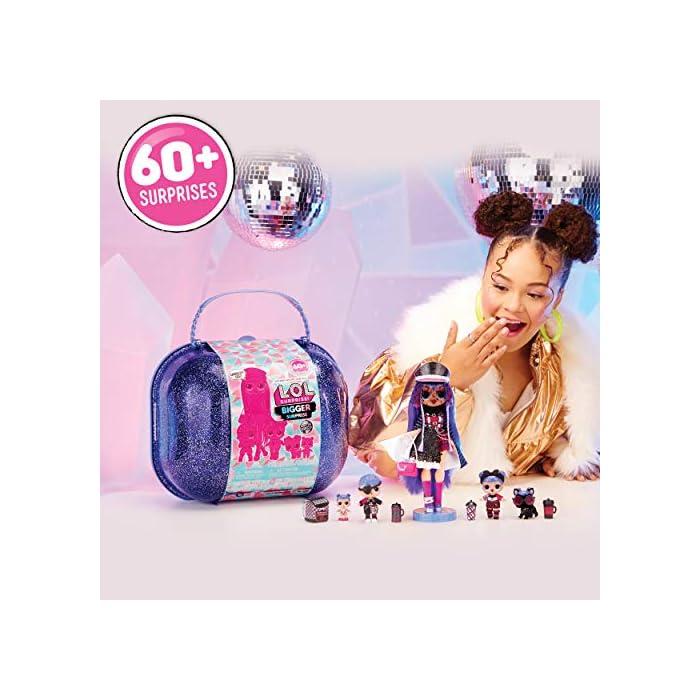 L.O.L. surprise winter disco bigger surprise Maletín con muñecas coleccionables y más de 60 sorpresas Giochi preziosi, 421627