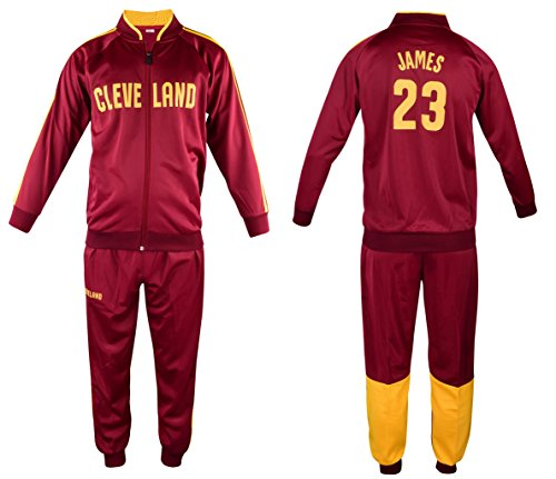 ICER Brands James Basketball Lebron Tracksuit Youth Sizes Premium Quality Track Jacket with Pants (YL 13-16 Years, Tracksuit)
