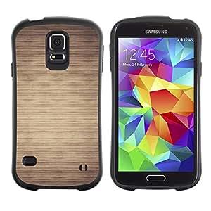 LASTONE PHONE CASE / Suave Silicona Caso Carcasa de Caucho Funda para Samsung Galaxy S5 SM-G900 / Pattern Beige Minimalist Horizontal