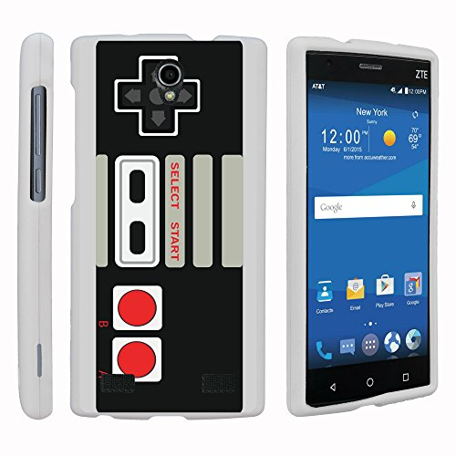 MINITURTLE Case Compatible w/ ZTE ZMAX 2 White Phone Case, Perfect Fit Cell Phone Case Hard Protector Cool Designs for ZTE ZMAX 2 Z958 - Game Controller