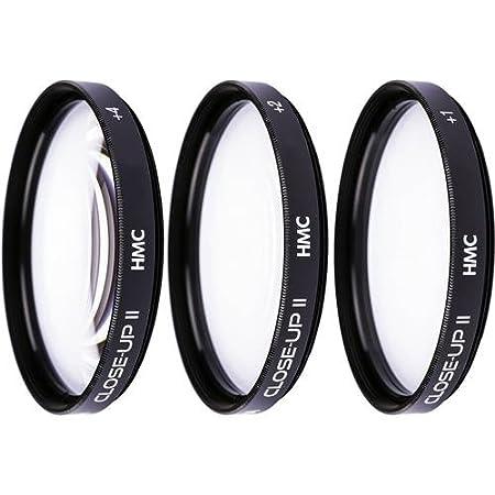Juego de filtros para macro fotograf/ía Hoya Close-up Kit +1, +2, +4, 46 mm color negro