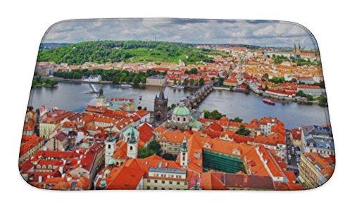 Gear New Bath Rug Mat No Slip Skid Microfiber Soft Plush Absorbent Memory Foam, Area Lesser Town Of Prague Mala Strana Charles Bridge Prague Castle And Vltava, - Charles Town Center