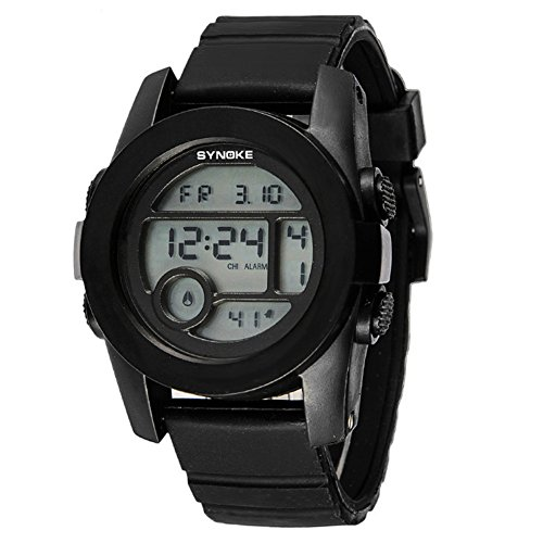 Jelly Digital 5 Sport (Fashion Boys Girls Outdoor Digital Quartz Waterproof Jelly Sports Watches For 5-15 Years Old Black)