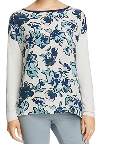weekend-maxmara-gray-blue-printed-small-boat-neck-silk-sweater-white-ivory-s
