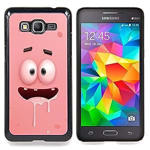 Stuss Case / Funda Carcasa protectora - Cartoon Pink Dientes Ojos caracteres - Samsung Galaxy Grand Prime G530H / DS