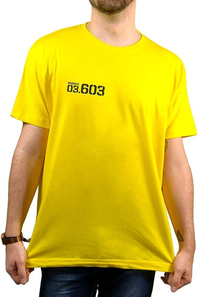 SUPERMOLON Camiseta Amarilla Unisex Vis a Vis Rizos: Amazon.es ...