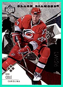 2003-04 Black Diamond #170 Erik Cole CAROLINA HURRICANES QUADRUPLE DIAMOND