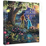 "Thomas Kinkade - Gallery Wrapped Canvas , The Princess and the Frog , 14"" x 14"" , 55386"