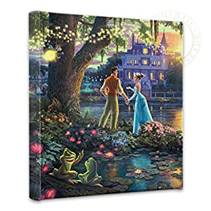 Thomas Kinkade – Gallery Wrapped Canvas , The Princess and the Frog , 14″ x 14″ , 55386