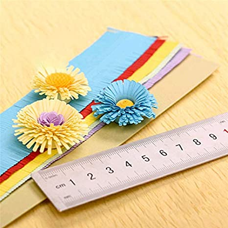 Flower Quilling Paper Strips Colorful Origami DIY Hand Craft Child Stripes,JJJL00270001 1Bag 10Pcs
