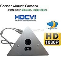 1920 x 1080 HD CVI Corner Mount Security Camera 2.8mm Wide Angle Lens, Array LED, Prefect for Elevator, Inside Room.--MUST BE USED WITH A CVI CAPABLE DVR!