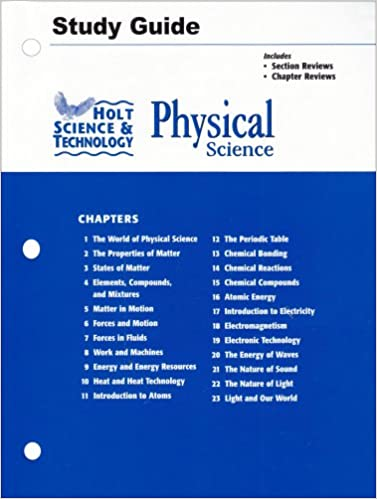 Amazon holt science and technology physical science study amazon holt science and technology physical science study guide 9780030301612 rinehart and winston holt books fandeluxe Images