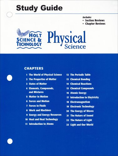 Amazon.com: Holt Science and Technology: Physical Science Study ...