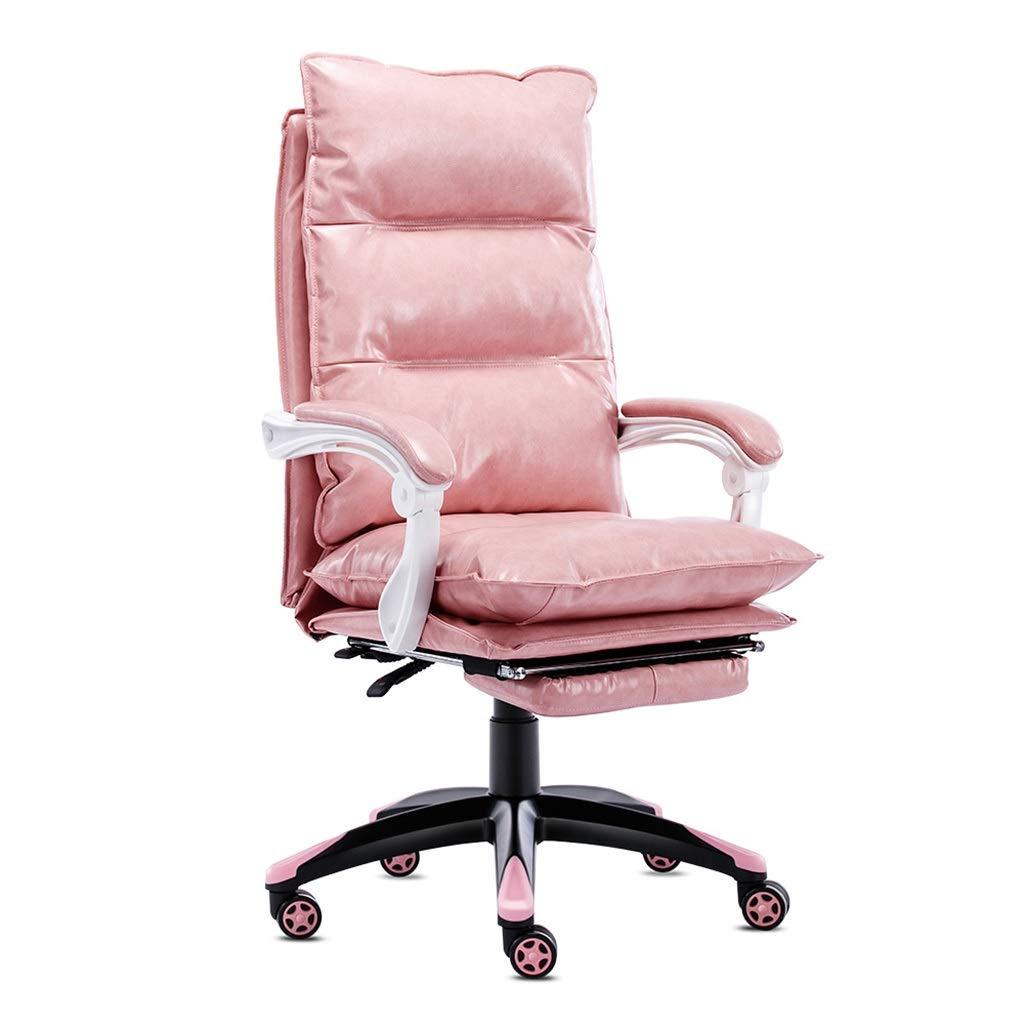 オフィスチェア ピンクコンピュータチェアガールチェアホームオフィスチェア電子ゲームチェア学生寮の椅子、ダブルコットンデザイン、スーパーロードベアリング (Color : Pink, Size : 60*60*123cm) 60*60*123cm Pink B07NRX26FB