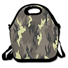 Military Camo Art Lunch Bag Lunch Tote