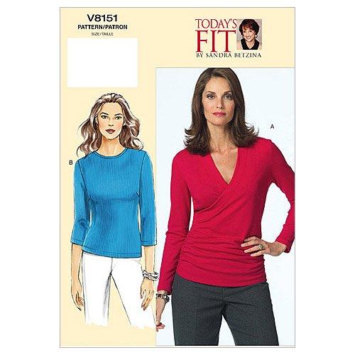 Vogue Sandra Betzina Pattern 8151 Misses Pullover Tops, Bust Size 32-34-36 ()