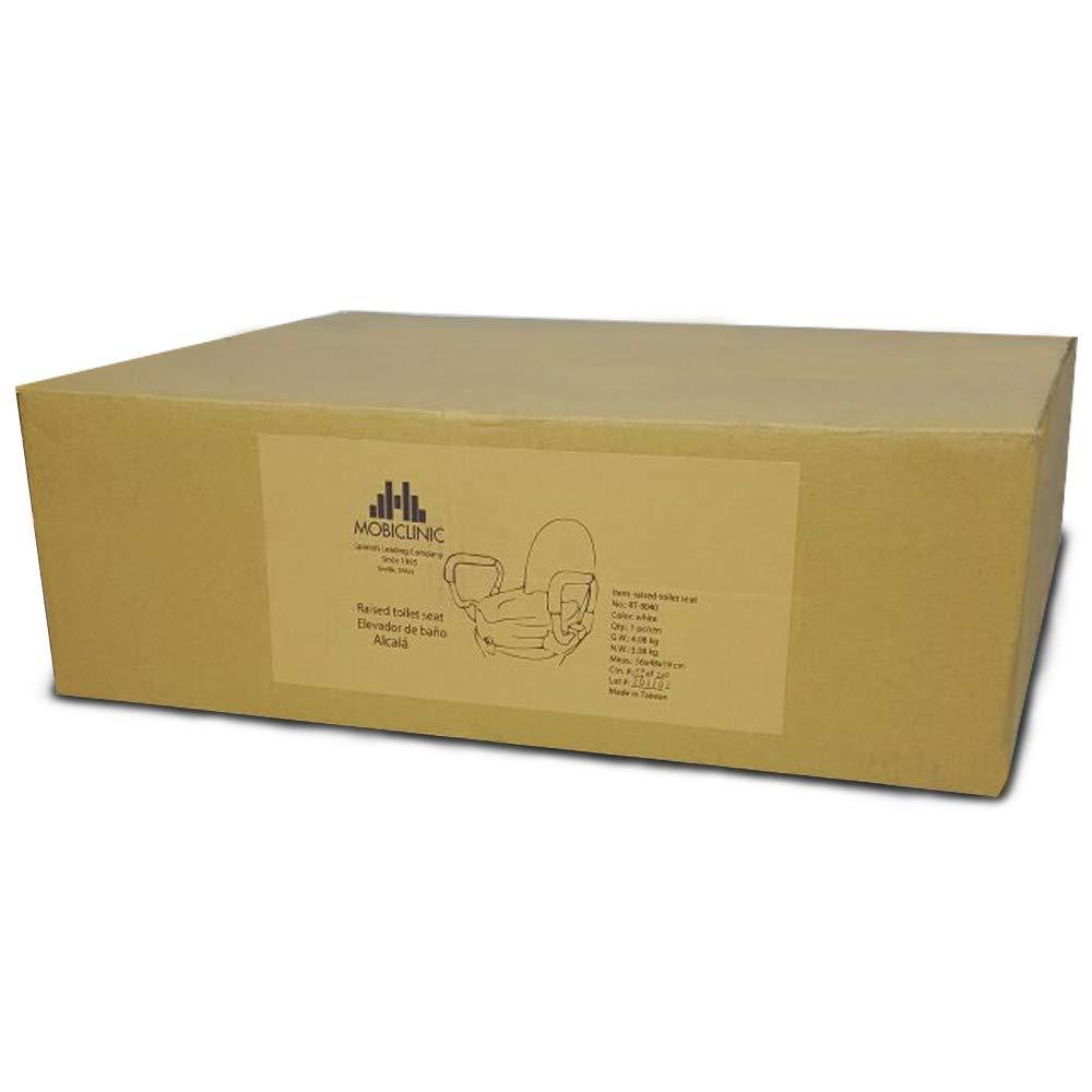 Mobiclinic Elevador de inodoro con tapa y reposabrazos abatibles altura 10cm Modelo Alcal/á Marca