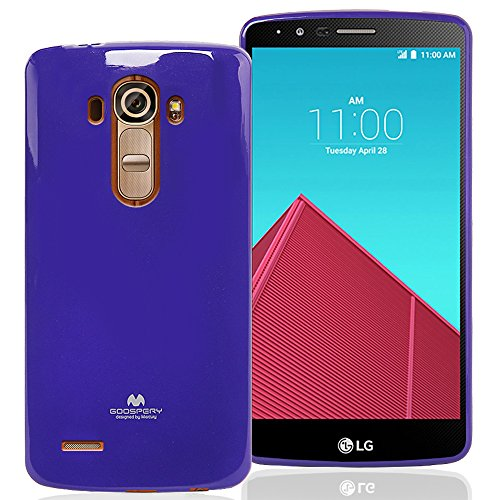 LG G4 Case, [Thin Slim] GOOSPERY [Flexible] Color Pearl Jelly Rubber TPU Case [Lightweight] Bumper Cover [Impact Resistant] for LG G4 (Purple) G4-JEL-PPL ()