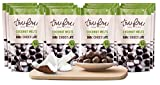 Tru Fru Dark Chocolate Dipped Freeze-Dried Fruit, 12-Pack Grab & Go, Coconut