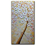 V-inspire Paintings, 24x48 Inch Paintings Oil Hand Painting 3D Hand-Painted On Canvas Abstract Artwork Art Wood Inside Framed Hanging Wall Decoration Abstract Painting