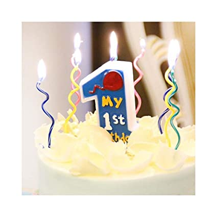 Amazon Flodance 2set16pcs Long Curve Cake Candles Mix Color Birthday Candle Party Home Kitchen