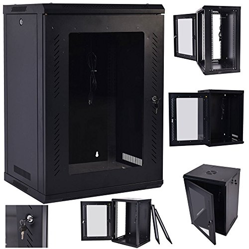 Z ZTDM Wall Mount Network Cabinet Server Rack IT Date Computer Enclosure Equipment Rack Cabinet with Cooling Fun (18U) by Z ZTDM