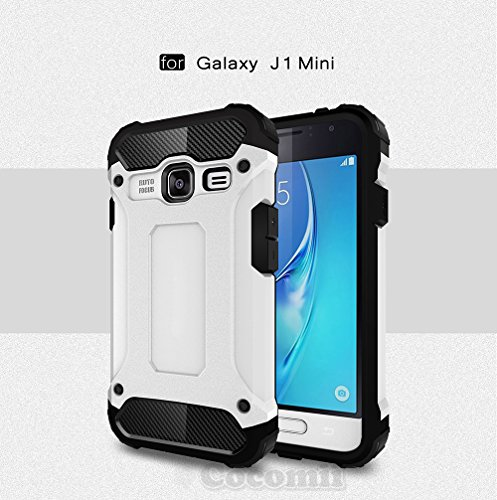 Slim Shockproof Case for Samsung Galaxy J1 (White) - 7