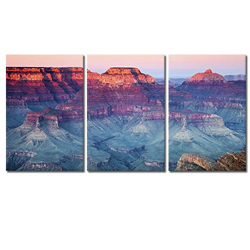 - wall26 - 3 Piece Canvas Wall Art - Grand Canyon National Park, Arizona, United States - Modern Home Decor Stretched and Framed Ready to Hang - 24