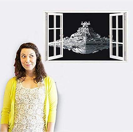 Star Wars Spacecraft Destroyer 3D Window Wall Stickers Removable Art Kids Mural