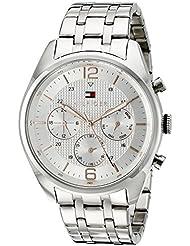 Tommy Hilfiger Mens 1791186 Sophisticated Sport Analog Display Quartz Silver Watch