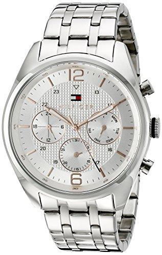 (Tommy Hilfiger Men's 1791186 Sophisticated Sport Analog Display Quartz Silver Watch)
