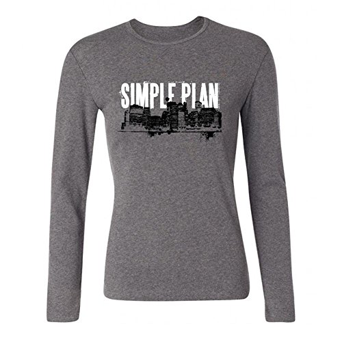 (Tommery Women's Simple Plan Long Sleeve Cotton T Shirt)