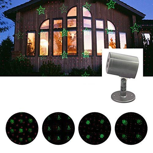Erkeli LED Projector Lights, Landscape Spotlight, 6 Patterns Chaning Decorative Spotlight Projection Light Show for Christmas, Halloween, House, Garden, Yard, Party Decoration ()
