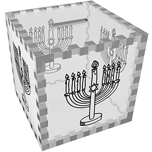 Azeeda 'Jewish Menorah' Clear Money Box / Piggy Bank (MB00058653)