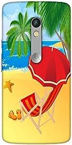Snoogg Tropical Beach Vector Designer Protective Back Case Cover For Motorola...