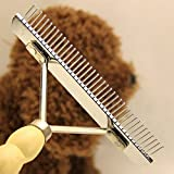Teanfa Professional Large Dogs Hair Brush Slicker Long Short Hair Comb Rake Cleaning Grooming Dematting Detangling Pets Hair