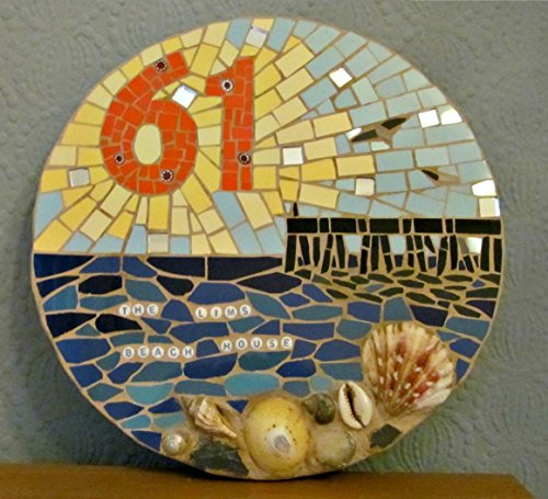 House number; house sign; mosaic house plaque/ sign;made to