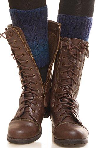 Knit Striped Leg Warmers - 6