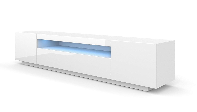 TV Soporte gabinete Unidad RTV 200 cm Armario con LED ...