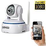 IP Camera, Uokoo 1080p WiFi Security Camera, Plug and Play, Pan/Tilt with ...
