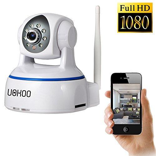 Wifi Camera, UOKOO 1080p WiFi Security Camera, Plug and Play, Pan/Tilt with 2-Way Audio, Night...